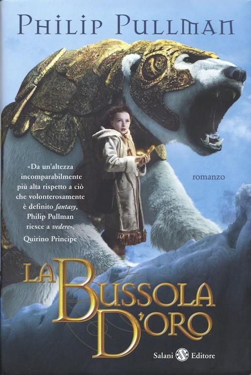 Copertina del libro con l'immagine di una bambina e di un grande orso bianco che indossa una corazza