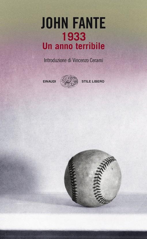 Copertina del libro con l'immagine di una balla da baseball in primo piano