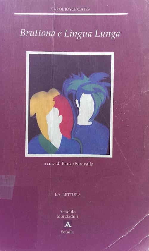 Copertina del libro con l'immagine di due figure abbozzate all'interno di un riquadro, su di uno sfondo viola