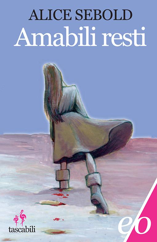 Copertina del libro con il disegno di una ragazza vista di spalla che si allontana verso l'orizzonte lasciando dietro di sé delle tracce di sangue