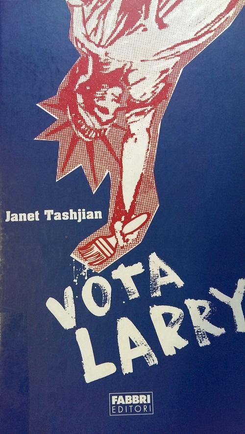 Copertina del libro blu con l'immagine nei toni rossi della Statua della Libertà al contrario