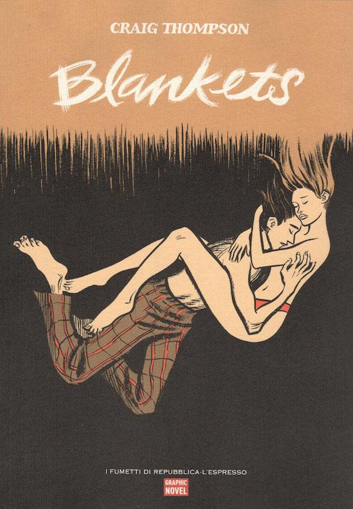 Copertina del fumetto con l'immagine di un ragazzo e di una ragazzi abbracciati