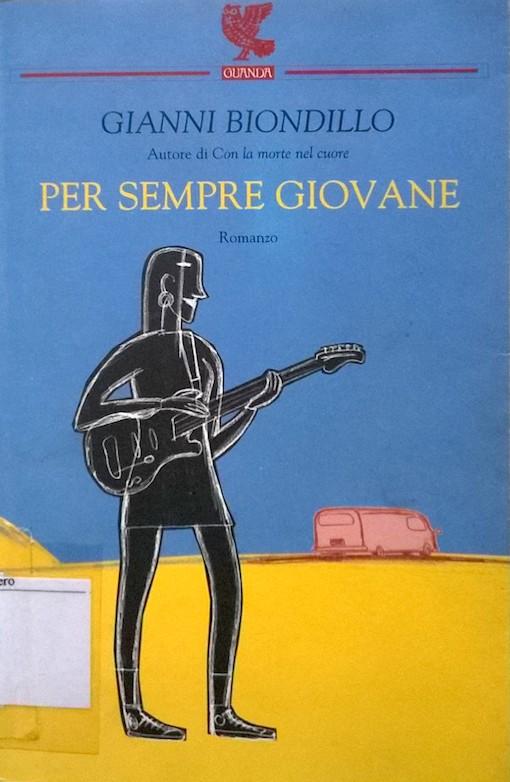 Copertina del libro con il disegno di una figura umana che regge una chitarra