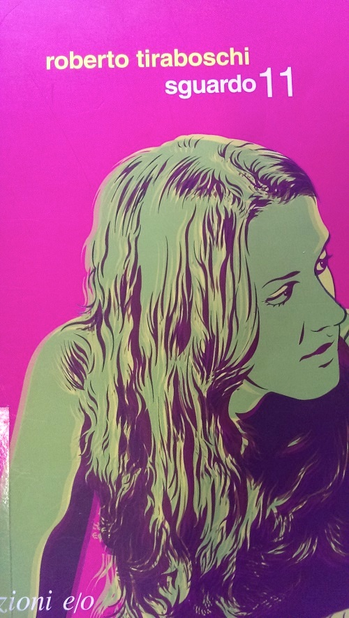 Copertina del libro rosa con l'immagine di una ragazza dai capelli lunghi