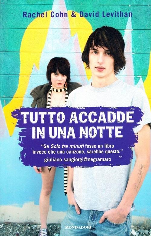 Copertina del libro con l'immagine di un ragazzo e di una ragazza con  i capelli scuri che guardano fissi verso l'obbiettivo