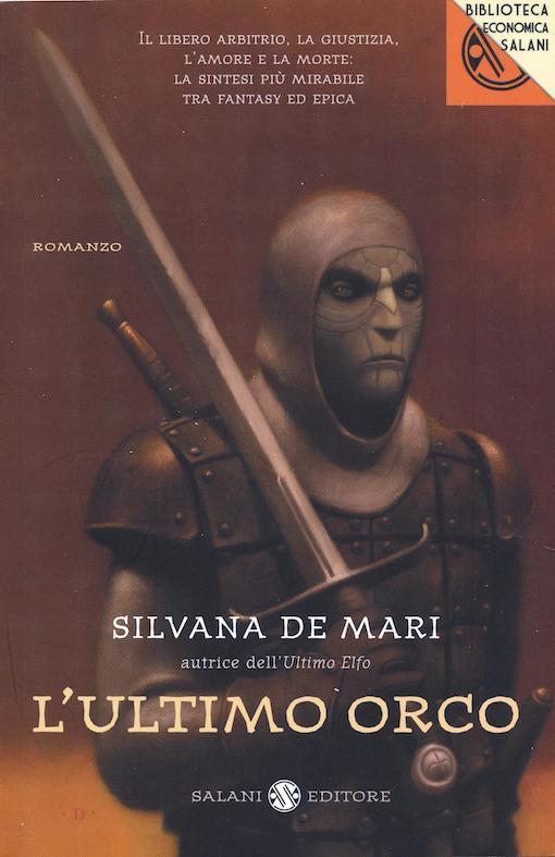 Copertina del libro con l'immagine di un essere dalle sembianze umane corazzato e armato