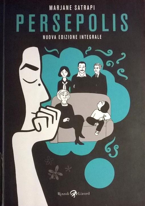 Copertina del fumetto con l'immagine in primo piano della protagonista e sullo sfondo la sua famiglia