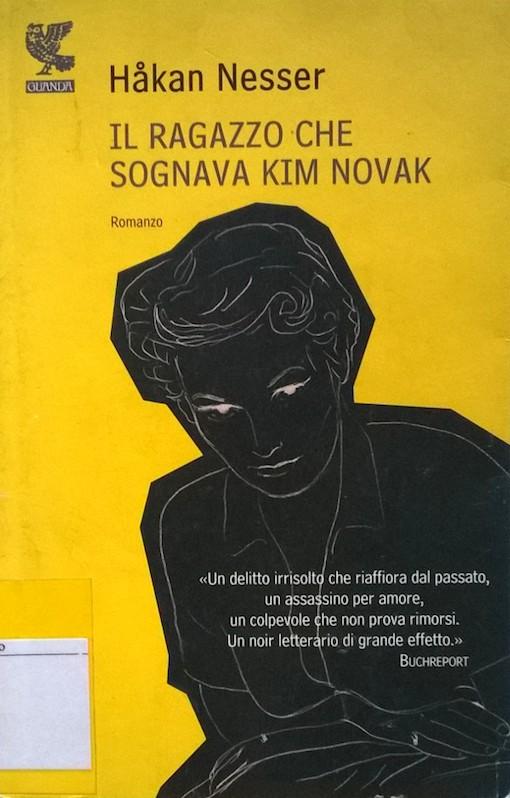 Copertina del libro gialla con l'immagine di una figura maschile nera