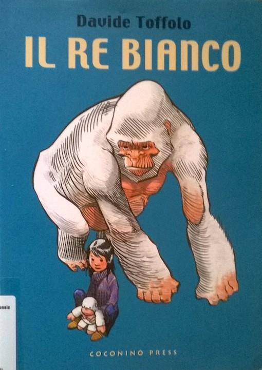 Copertina del libro con il disegno di un gorilla bianco