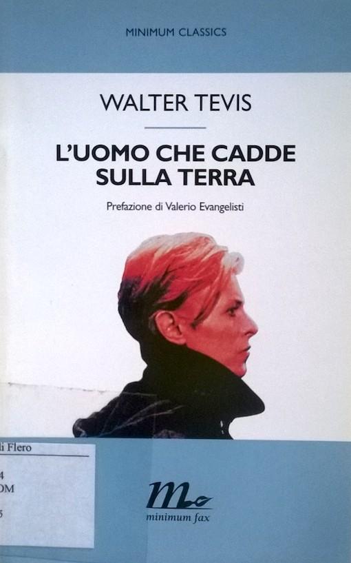 Copertina del libro con l'immagine di David Bowie ripreso di profilo