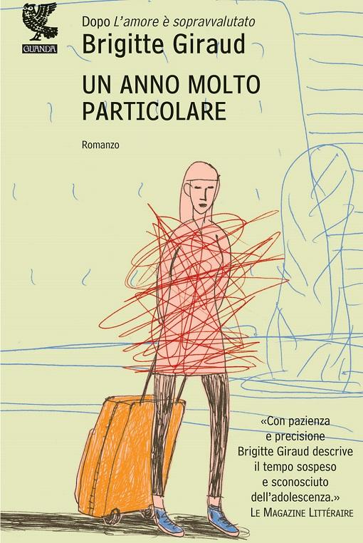 Copertina del libro con l'immagine di una ragazza con una valigia