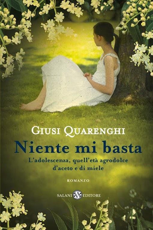 Copertina del libro con l'immagine di una ragazza vestita di bianco seduta sotto un albero