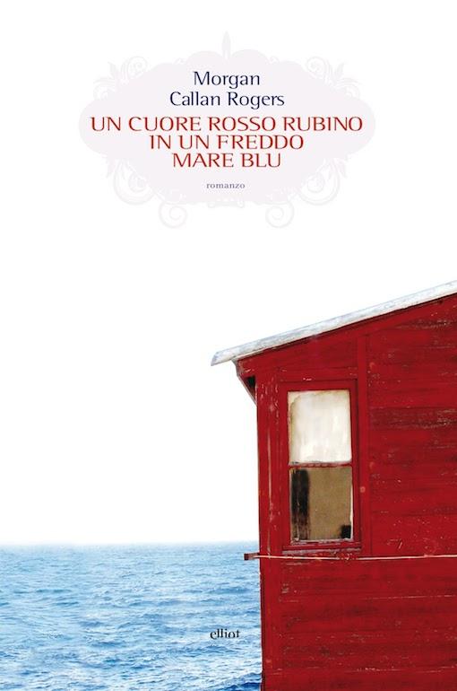 Copertina del libro con l'immagine di una casa rossa che si affaccia sul mare
