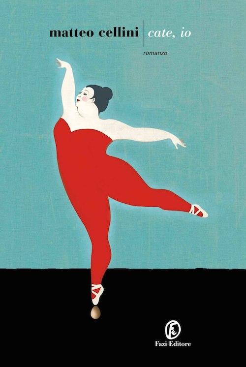 Copertina del libro raffigura una robusta ballerina in tuta rossa