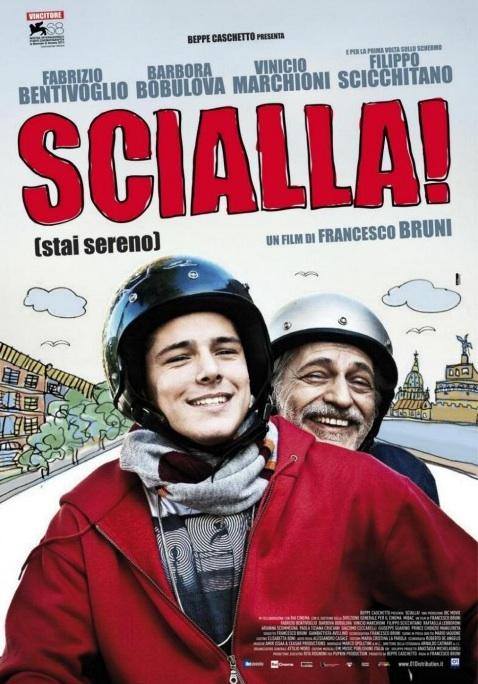 copertina dvd mostra un ragazzo e un uomo in pirmo piano con dei caschi da motocicletta