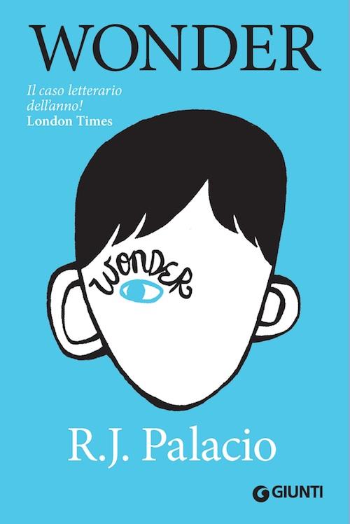 copertina del libro che raffigura un viso con un occhio solo senza naso e bocca su sfondo azzurro