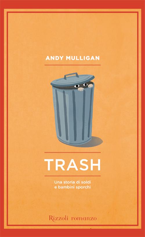 copertina del libro che illustra un bidone della spazzatura da cui escono due occhi e due mani
