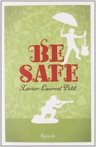 copertina del libro con illustrati un soldato che sapera con un fucile e un ragazzo con un ombrello e una chitarra