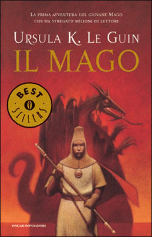 copertina del libro che raffigura un mago con alle spalle un drago
