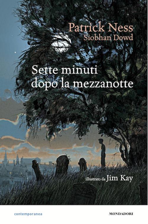 Copertina del libro con l'immagine di un ragazzo sotto un grande albero mentre guarda delle tombe