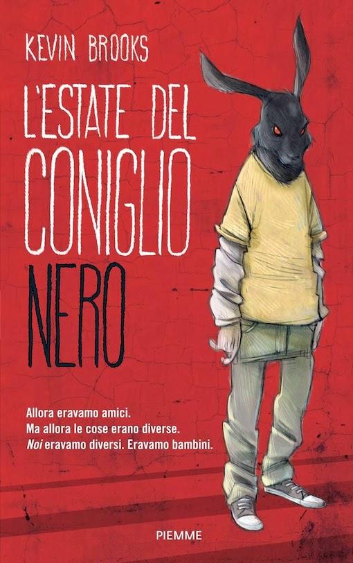 Copertina del libro con il disegno di una ragazzo con una maschera da coniglio nera