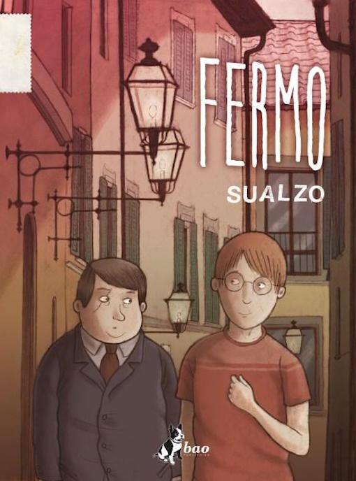 Copertina del fumetto con il protagonista colto nell'attimo di camminare per le vie di un centro storico