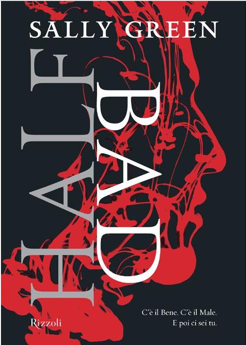 Copertina del libro con il titolo scritto in verticale in sovrapposizione ad un viso stilizzato rosso di profilo