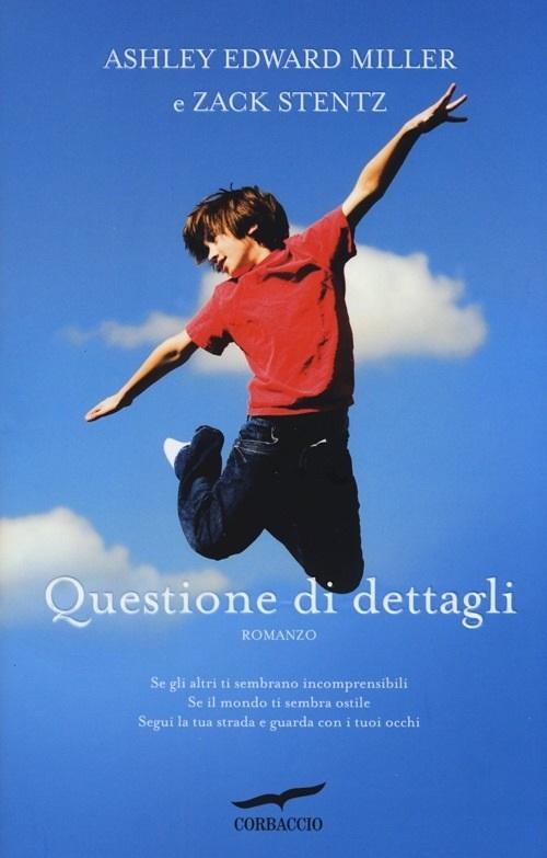 Copertina deli libro con l'immagine di un ragazzo con la maglia rossa e i pantoloni che salta nell'aria