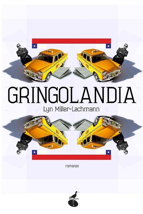 Copertina del libro con l'immagine di 4 taxi speculari
