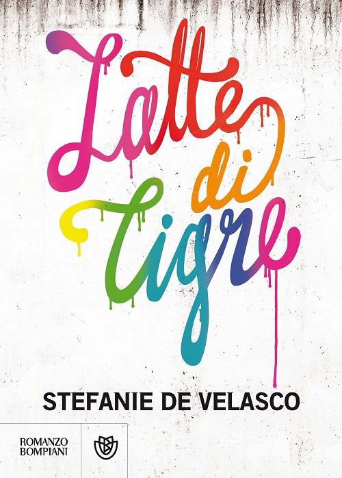 Copertina del libro di colore bianco sporco con il titolo in caratteri colorati