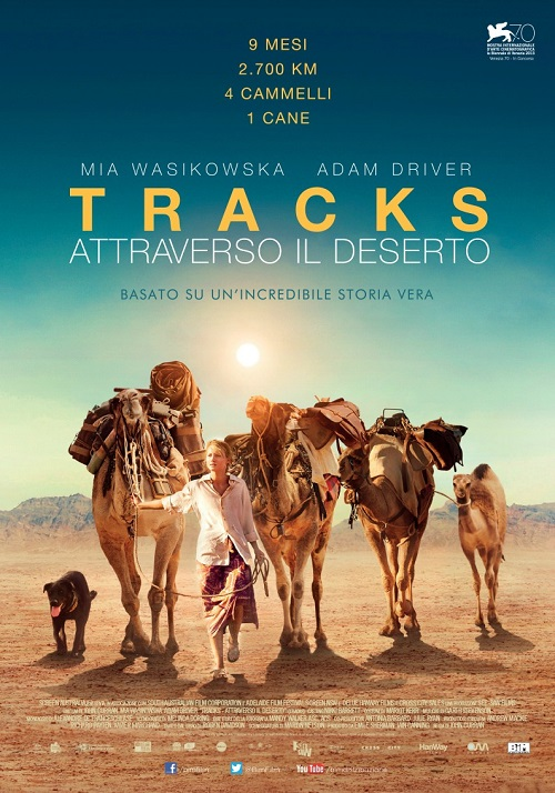 Locandina del film con la protagonista a piedi nel deserto