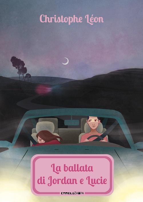 Copertina del libro con il disegno di due persone su di una macchina mentre viaggiano nella notte