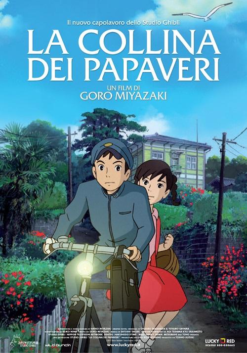 Locandina del film con i due protagonisti in corsa sulla stessa bicicletta
