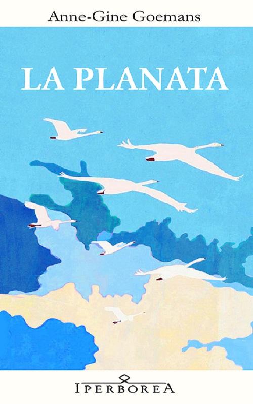 Copertina del libro con il disegno di alcuni volatili bianchi stagliati contro un cielo azzurro