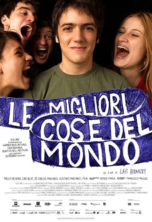 Locandina del film con il ragazzo protagonista circondato dagli altri personaggi