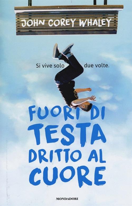 Copertina del libro con l'immagine di un ragazzo che sembra precipitare a testa in giù dall'alto