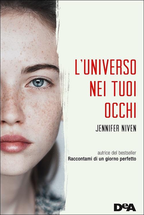 Copertina del libro con l'immagin di un giovane volto femminile che guarda dritto verso l'obbiettivo
