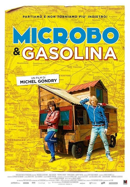 Locandina del film con l'immagine dei due protagonisti appoggiati da uno strano mezzo di trasporto