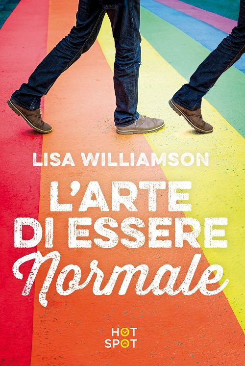 Copertina del libro con l'immagine di due paia di piedi che camminano su una strada arcobaleno